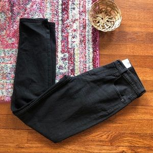 Everlane black high waisted skinny jeans